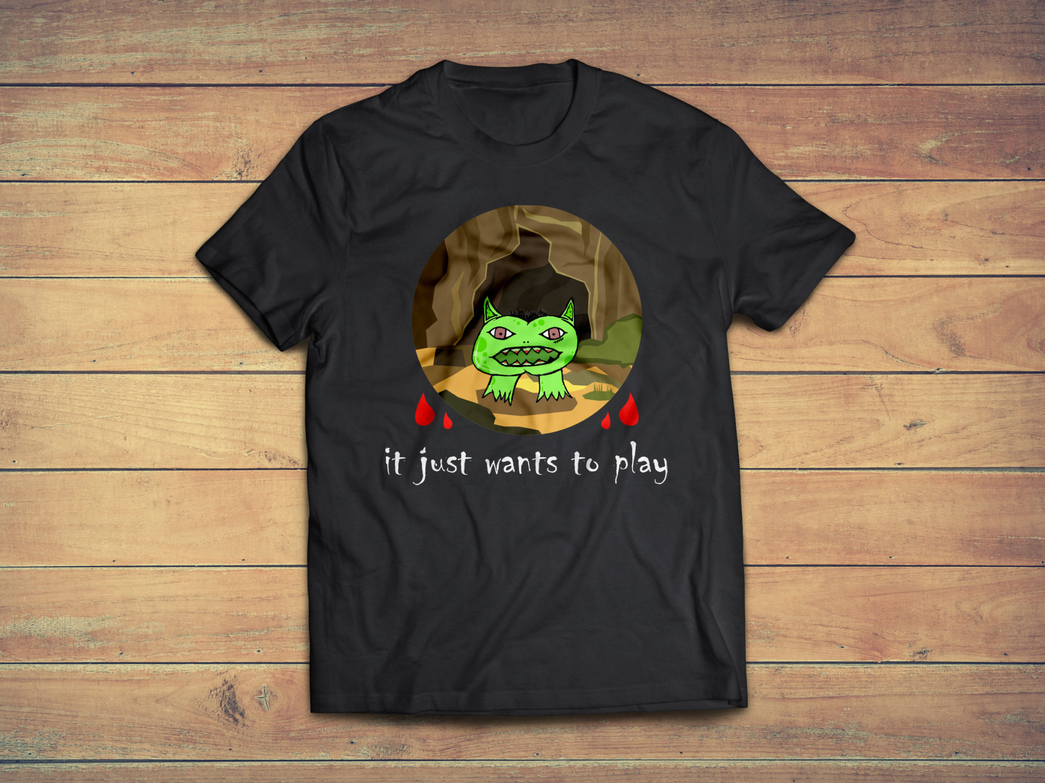 Shirt T-Shirt Motiv: It just wants to play